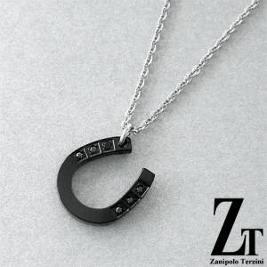 Zanipolo Terzini ザニポロ タルツィーニ ステンレス 馬蹄ネックレス ブラック ZTP2429 MA/BK|rismtown-y