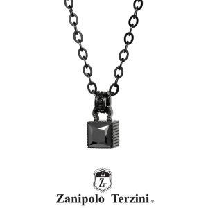 Zanipolo Terzini ステンレス ストーンネックレス ブラック ZTP3709BKBK ザニポロタルツィーニ [ZT]|rismtown-y