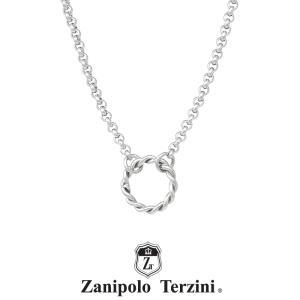 ザニポロタルツィーニ ツイストリングモチーフネックレス サージカルステンレス ZTP3724 MA  Zanipolo Terzini メンズ チェーン45cm 金属アレルギー対応|rismtown-y