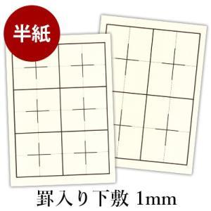 下敷き 書道 罫入り樹脂ラシャ1mm 半紙判 rissei