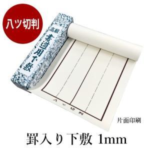 下敷き 書道 罫入り樹脂ラシャ1mm 八ッ切判 rissei