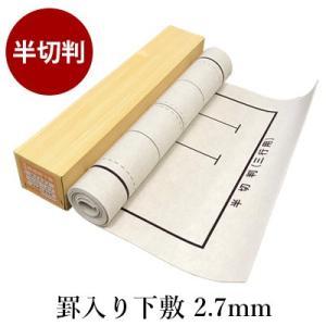 下敷き 書道 罫入りNフェルト2.7mm 半切判|rissei