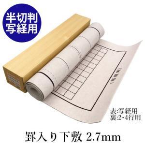 下敷き 書道 罫入りNフェルト2.7mm 半切判 写経用 rissei