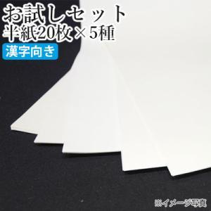 書道用紙 半紙 セット 栗成 お試しセット 半紙20枚×5種(100枚)漢字向け|rissei