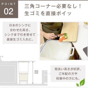ゴミ箱 キッチン 45L フ縦型 蓋付き フタ キャスター付 スリム 2段 分別 2分類 隙間|risu-onlineshop|03