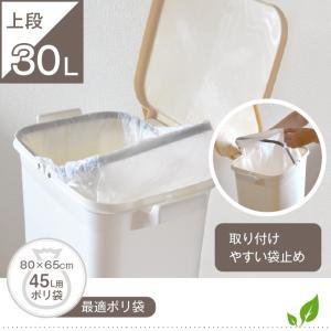 ゴミ箱 キッチン 45L フ縦型 蓋付き フタ キャスター付 スリム 2段 分別 2分類 隙間|risu-onlineshop|05