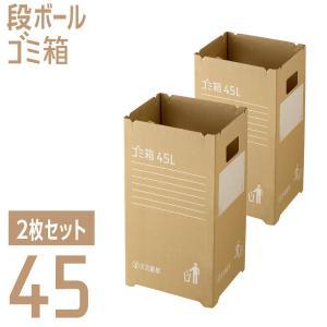 ダンボールゴミ箱(2枚組) 45リットル 使い捨て アウトドア イベント 野外 分別