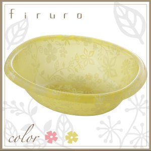 フィルロ 洗面器 R 湯桶 ピンク イエロー アクリル おしゃれ|risu-onlineshop