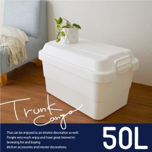 座れる 収納ボックス 50L 収納BOX フタ付き おしゃれ ホワイト|risu-onlineshop