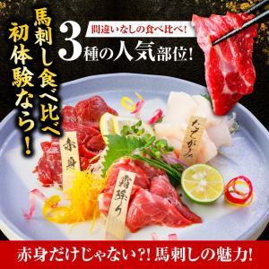 馬刺し 熊本  国産 3種食べ比べセット 200g 約4人前 赤身 霜降り たてがみ 馬肉 馬刺 送料無料 ギフト 肉 食べ物 おつまみ 馬刺|ritafoods-basasi|04