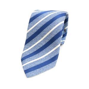 アルテア ALTEA ストライプ柄ネクタイ ブルー BLU ritagliolibro