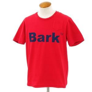 未使用 バーク Bark 半袖Tシャツ レッド×ネイビー M ritagliolibro