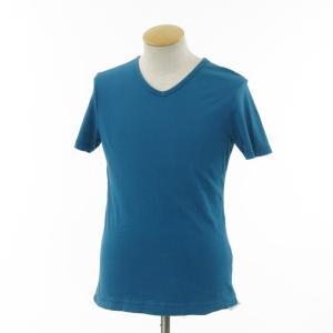 スリードッツ three dots 半袖Tシャツ グリーンブルー S|ritagliolibro