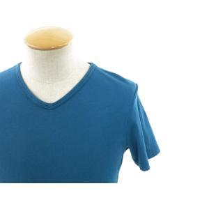 スリードッツ three dots 半袖Tシャツ グリーンブルー S|ritagliolibro|04