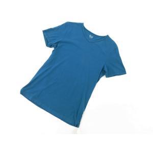 スリードッツ three dots 半袖Tシャツ グリーンブルー S|ritagliolibro|05