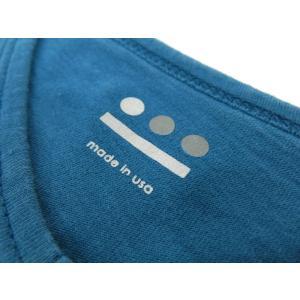 スリードッツ three dots 半袖Tシャツ グリーンブルー S|ritagliolibro|06