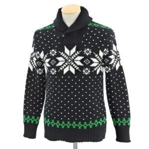 ポロラルフローレン Polo Ralph Lauren プルオーバーニット ブラック×ホワイト×グリーン XS|ritagliolibro