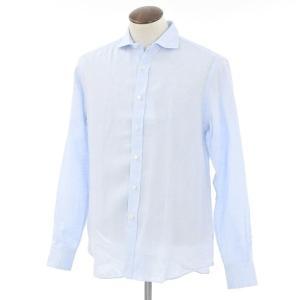 サルヴァトーレ ピッコロ Salvatore Piccolo リネン ホリゾンタルカラーシャツ ライトブルー 41|ritagliolibro
