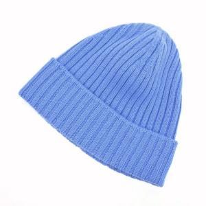 カングラ Kangra カシミア ニットキャップ 帽子 ブルー M|ritagliolibro