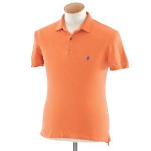 バランタイン BALLANTYNE ストレッチコットン 半袖ポロシャツ オレンジ M|ritagliolibro