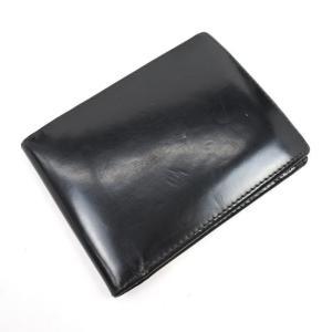 エッティンガー ETTINGER ブライドルレザー 2つ折り 財布 ブラック×イエロー ritagliolibro