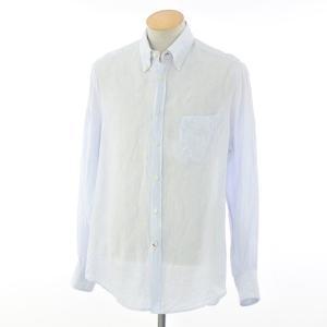 ブルネロ クチネリ BRUNELLO CUCINELLI リネン BDシャツ ライトブルー S|ritagliolibro