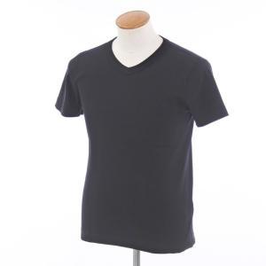 スリードッツ three dots コットン 半袖 Tシャツ ブラック M|ritagliolibro