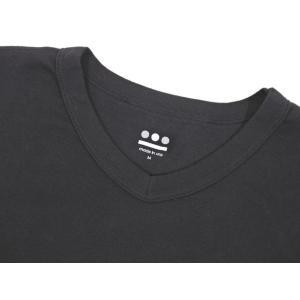 スリードッツ three dots コットン 半袖 Tシャツ ブラック M|ritagliolibro|06