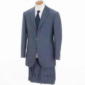 キートン Kiton モヘアウール 3つボタン スーツ グレイッシュネイビー 48/48|ritagliolibro