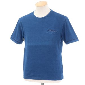 オリアン ORIAN コットン ポケット 半袖Tシャツ インディゴブルー XS|ritagliolibro