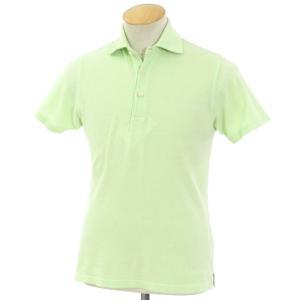ドルモア Drumohr コットン鹿の子 グラデーション 半袖ポロシャツ ライムグリーン S|ritagliolibro