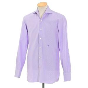 イザイア ISAIA ストライプ ドレスシャツ パープル×ホワイト 表記なし(43位)|ritagliolibro