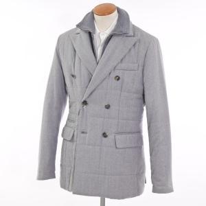未使用 キーレッド ケイレッド KIRED ウール 中綿入りコート メランジグレー 52|ritagliolibro