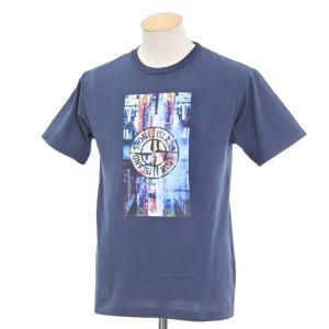 ストーンアイランド STONE ISLAND プリント クルーネック 半袖Tシャツ ネイビー S|ritagliolibro