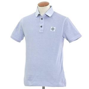 ストーンアイランド STONE ISLAND コットン 半袖ポロシャツ ライトブルー系 M|ritagliolibro