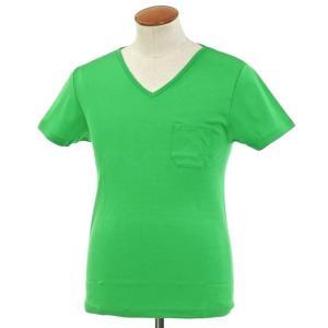 ルトロワ Letroyes コットン 半袖 Vネック Tシャツ JEAN BP グリーン M ritagliolibro