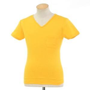 ルトロワ Letroyes コットン 半袖 Vネック Tシャツ JEAN BP イエロー S|ritagliolibro