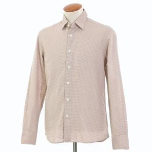 グランシャツ Glanshirt コットン カジュアルシャツ ダークブルー×オレンジ×ホワイト 39|ritagliolibro
