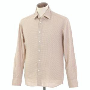 グランシャツ Glanshirt コットン カジュアルシャツ ダークブルー×オレンジ×ホワイト 41|ritagliolibro
