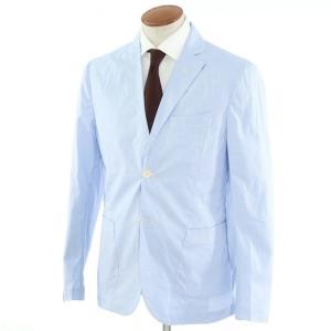 ジョバンニ イングレーゼ Giovanni Inglese チェック コットン  アンコン シャツジャケット ライトブルー×ホワイト 50|ritagliolibro