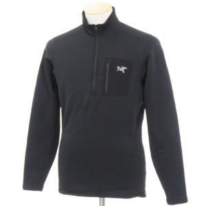 アークテリクス ARCTERYX ポリエステルジャージー ARジップネック シャツ ブラック S|ritagliolibro