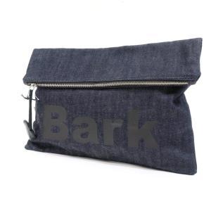 バーク Bark デニム クラッチバッグ ネイビー×ブラック ritagliolibro