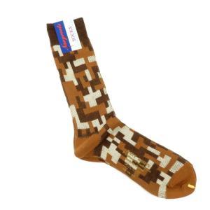 ネイビールーツ NAVY ROOTS デジタル迷彩柄 コットン×アクリル ソックス 靴下 ブラウン 25-27cm(ワンサイズ) ritagliolibro