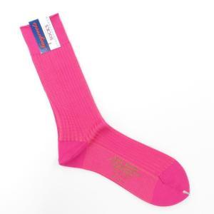 ネイビールーツ NAVY ROOTS コットン リブソックス 靴下 ピンク 25-27cm(ワンサイズ)|ritagliolibro