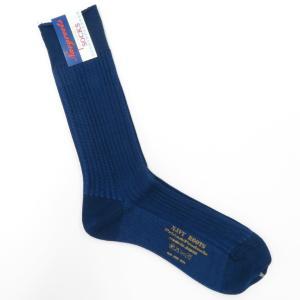ネイビールーツ NAVY ROOTS コットン リブソックス 靴下 ネイビー 25-27cm(ワンサイズ)|ritagliolibro