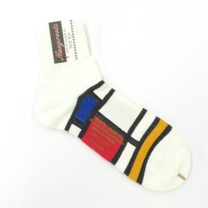 ネイビールーツ NAVY ROOTS コットン ショートソックス 靴下 ホワイト 25-27cm(ワンサイズ)|ritagliolibro