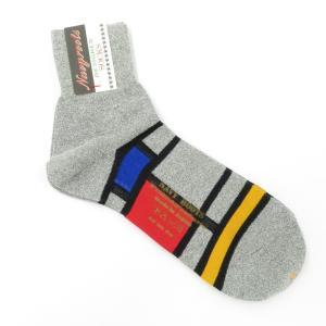 ネイビールーツ NAVY ROOTS コットン ショートソックス 靴下 グレー 25-27cm(ワンサイズ)|ritagliolibro