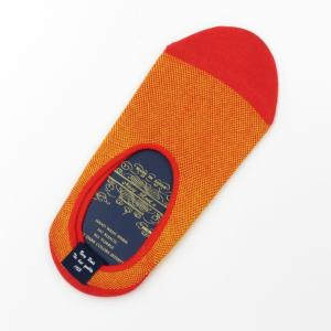ネイビールーツ NAVY ROOTS バーズアイ コットン×ポリエステル シューズインソックス 靴下 オレンジ 25-27cm(ワンサイズ) ritagliolibro