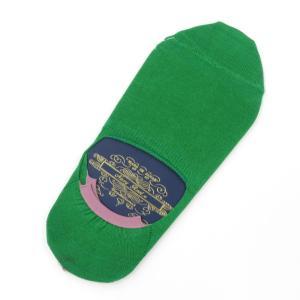 ネイビールーツ NAVY ROOTS コットン シューズインソックス 靴下 グリーン 25-27cm(ワンサイズ)|ritagliolibro