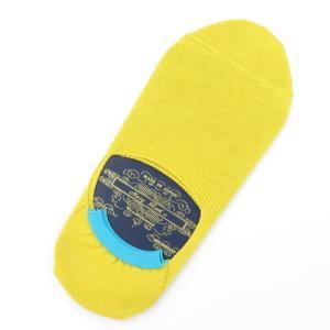 ネイビールーツ NAVY ROOTS コットン シューズインソックス 靴下 イエロー 25-27cm(ワンサイズ)|ritagliolibro